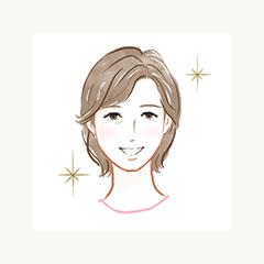 施術行程8笑顔の女性のイメージイラスト